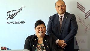 MPs the Hon. Nanaia Mahuta and Hon. Aupito William Sio - Image: Ministry of Foreign Affairs and Trade